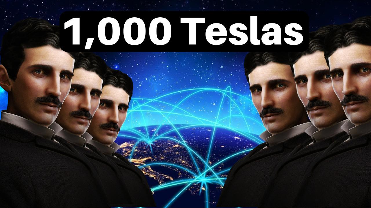 1,000 Teslas